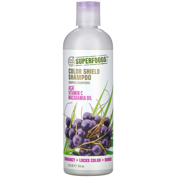 Petal Fresh, SuperFoods, Color Shield Shampoo, Acai, Vitamin C, Macadamia Oil, 12 fl oz (355 ml) (Discontinued Item)