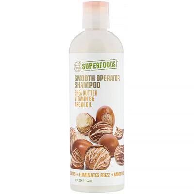 Купить Petal Fresh Pure, SuperFoods, Smooth Operator Shampoo, Shea Butter, Vitamin B6 & Argan Oil, 12 fl oz (355 ml)