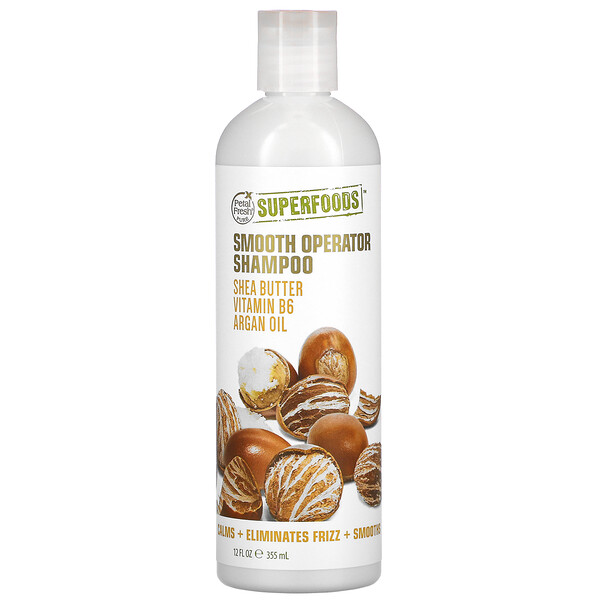 Pure, SuperFoods, Smooth Operator Shampoo, Shea Butter, Vitamin B6 & Argan Oil, 12 fl oz (355 ml)