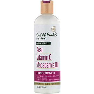 Petal Fresh, Pure, SuperFoods For Hair, Color Shield Conditioner, Acai, Vitamin C & Macadamia Oil, 12 fl oz (355 ml)