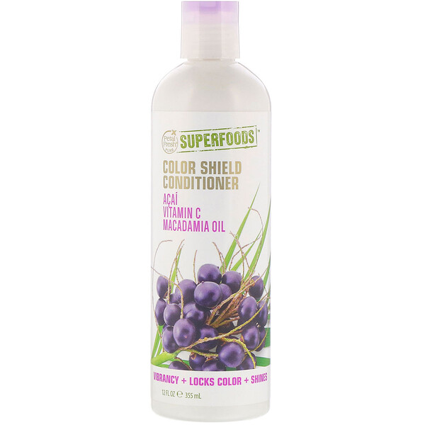 Pure, SuperFoods For Hair, Color Shield Conditioner, Acai, Vitamin C & Macadamia Oil, 12 fl oz (355 ml)