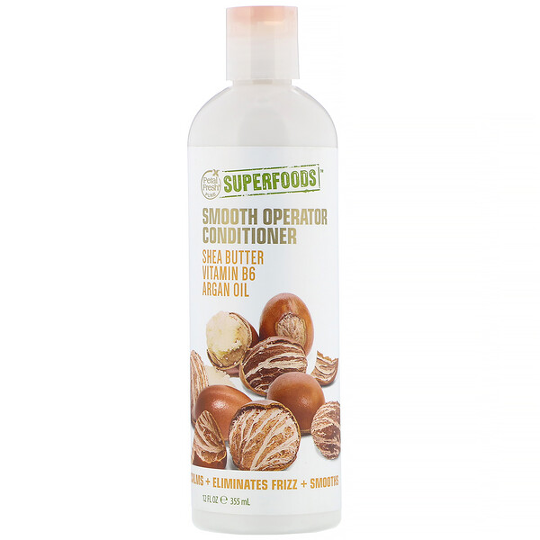 Pure, SuperFoods, Smooth Operator Conditioner, Shea Butter, Vitamin B6 & Argan Oil, 12 fl oz (355 ml)
