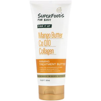 Купить Petal Fresh Pure, SuperFoods For Body, Firm It Up Firming Treatment Butter, Mango Butter, CoQ10 & Collagen, 7 fl oz (200 ml)