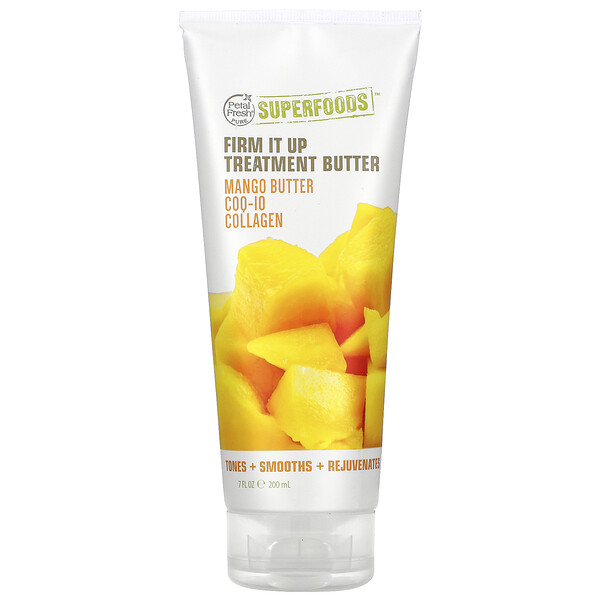 Pure, SuperFoods For Body, Firm It Up Firming Treatment Butter, Mango Butter, CoQ10 & Collagen, 7 fl oz (200 ml)