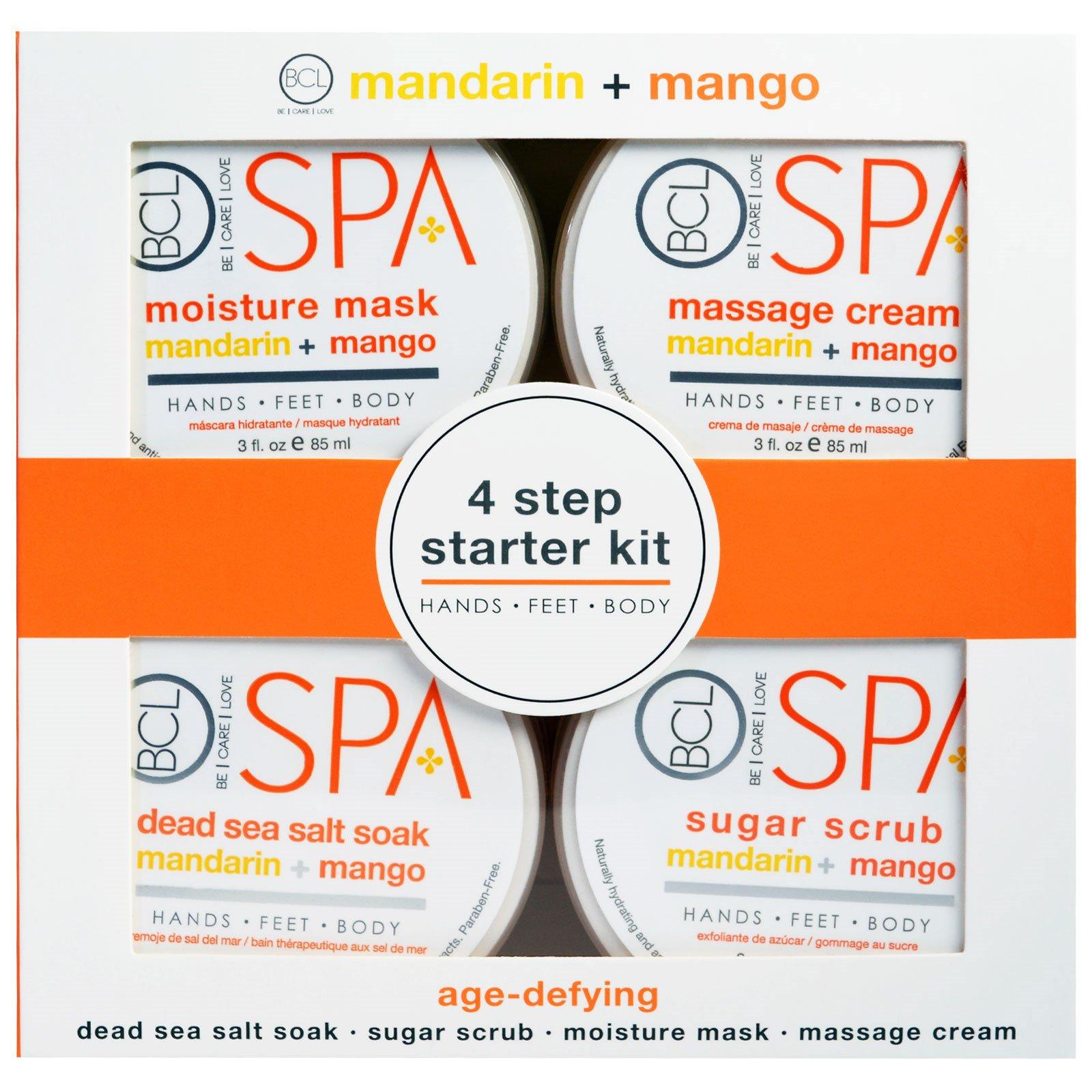 Petal Fresh, Spa, начальный набор из 4 шагов, антивозрастной, мандарин + манго, по 85 мл