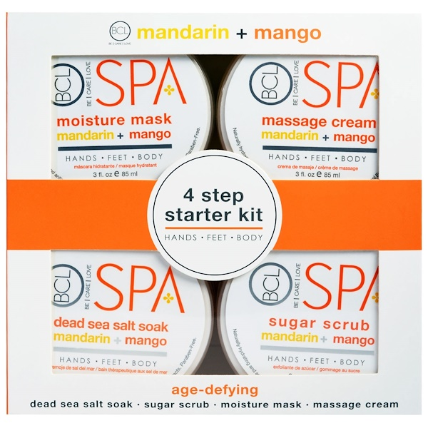 Petal Fresh, Spa, 4 Step Starter Kit, Age Defying, Mandarin + Mango, 4 - 3 fl oz (85 ml) Each (Discontinued Item)