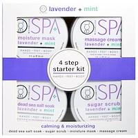 Spa, 4 Step Starter Kit, Calming & Moisturizing, Lavender + Mint, 4 - 3 fl oz (85 ml) Each - фото