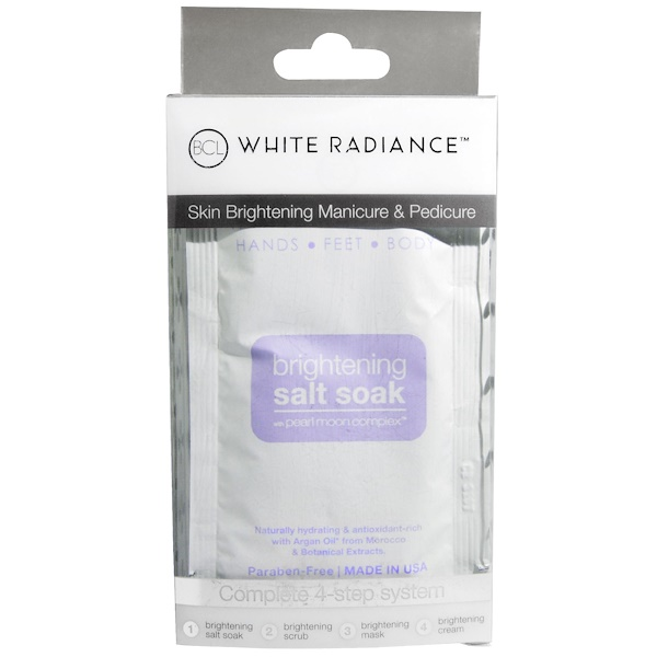Petal Fresh, White Radiance, Hands, Feet and Body, Brightening Salt Soak, 4 Piece Kit (Discontinued Item)