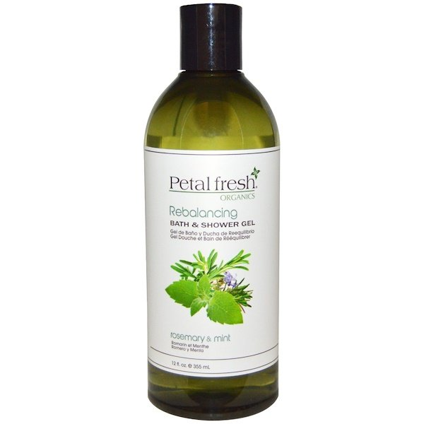 Petal Fresh, Organics, Bath & Shower Gel, Rebalancing, Rosemary & Mint, 12 fl oz (355 ml) (Discontinued Item)