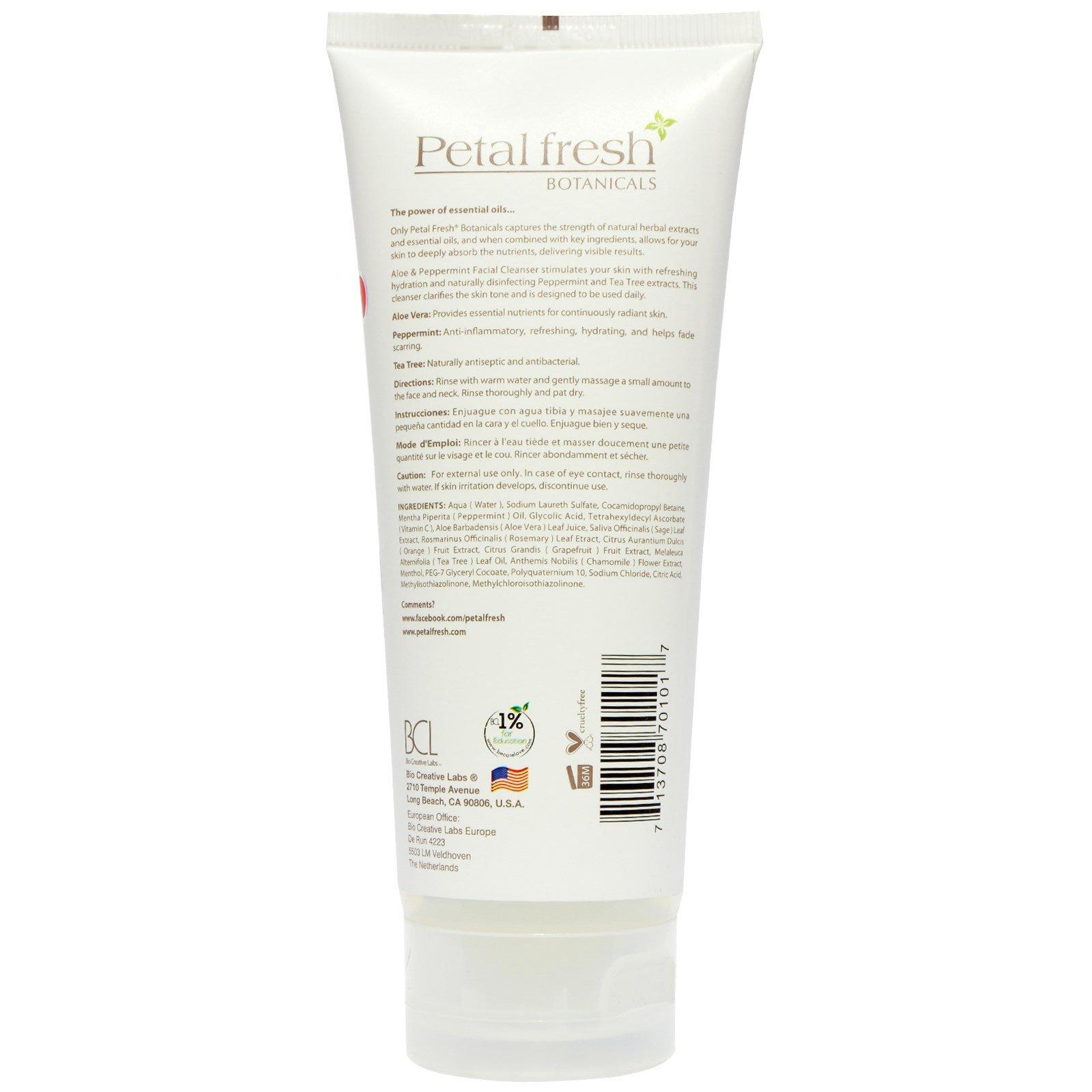 Petal Fresh, Age Defying Facial Scrub, Aloe & Pomegranate, 7 fl oz (200 ml) Bresh Diva Body Wipes for Women by BRESH, 3 Pack