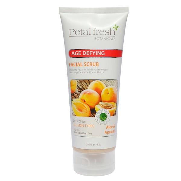 Petal Fresh, مقشر لصنفرة بشرة الوجه مقاوم لتقدم السن، ألوة ومشمش، 7 أونصة سائلة (200 مل) بوتانيكالز (Discontinued Item)