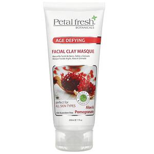Пэтал Фрэш, Botanicals, Age Defying Facial Clay Masque, Aloe & Pomegranate, 7 fl oz (200 ml) отзывы покупателей