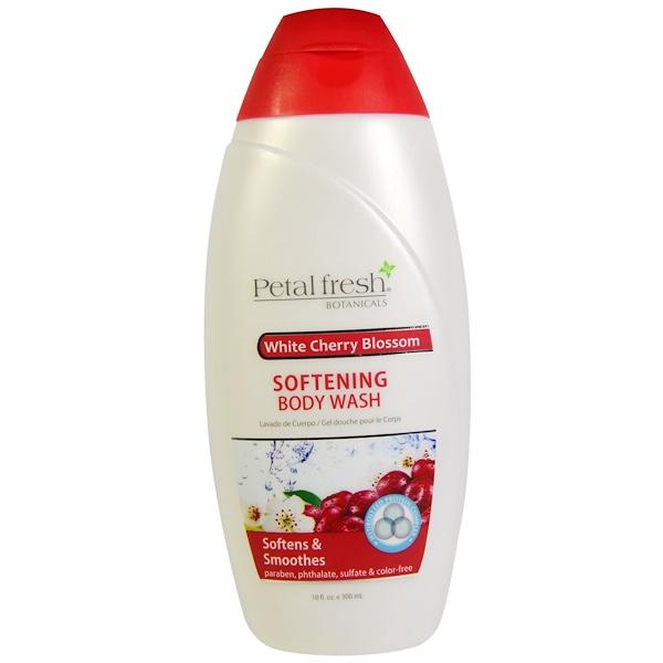Petal Fresh, Botanicals, Softening Body Wash, White Cherry Blossom, 10 fl oz (300 ml) (Discontinued Item)