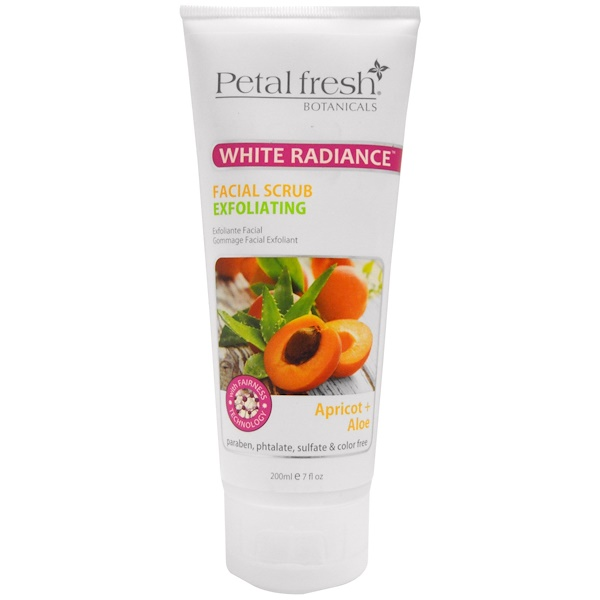 Petal Fresh, Botanicals, White Radiance Facial Scrub Exfoliating, Apricot & Aloe, 7 fl oz (200 ml)