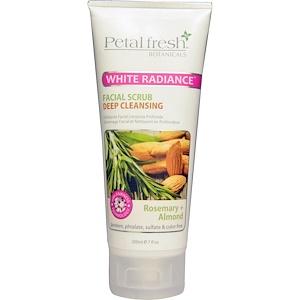 Пэтал Фрэш, Botanicals, White Radiance Facial Scrub, Rosemary + Almond, 7 fl oz (200 ml) отзывы покупателей
