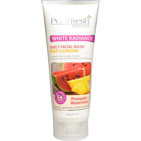Petal Fresh, Botanicals, White Radiance, Daily Facial Wash, Pineapple + Watermelon, 7 fl oz (200 ml) (Discontinued Item)