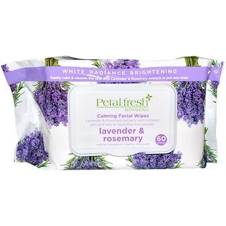 Petal Fresh, Botanicals, Calming Facial Wipes, Lavender & Rosemary, 60 Wipes