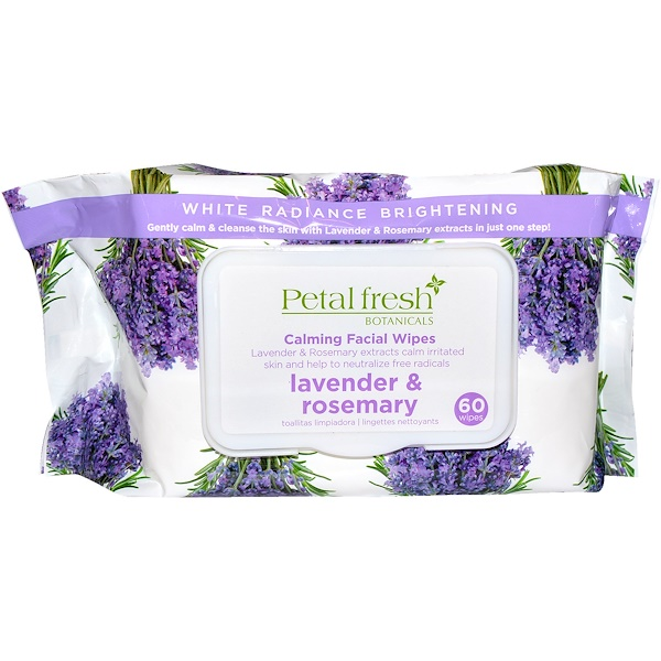 Petal Fresh, Botanicals, Успокаивающие салфетки для лица, Лаванда & розмарин, 60 салфеток (Discontinued Item)