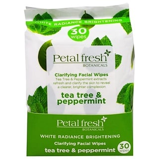 Petal Fresh, Botanicals, Clarifying Facial Wipes, Tea Tree & Peppermint, 30 Wipes