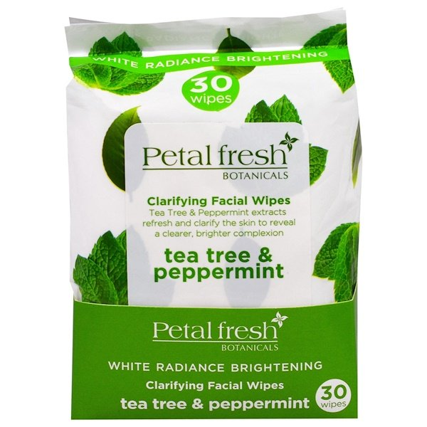 Petal Fresh, Botanicals, Clarifying Facial Wipes, Tea Tree & Peppermint, 30 Wipes (Discontinued Item)