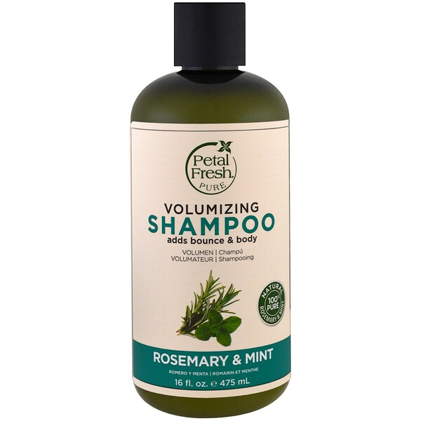 Pure, Volumizing Shampoo, Rosemary & Mint, 16 fl oz (475 ml)