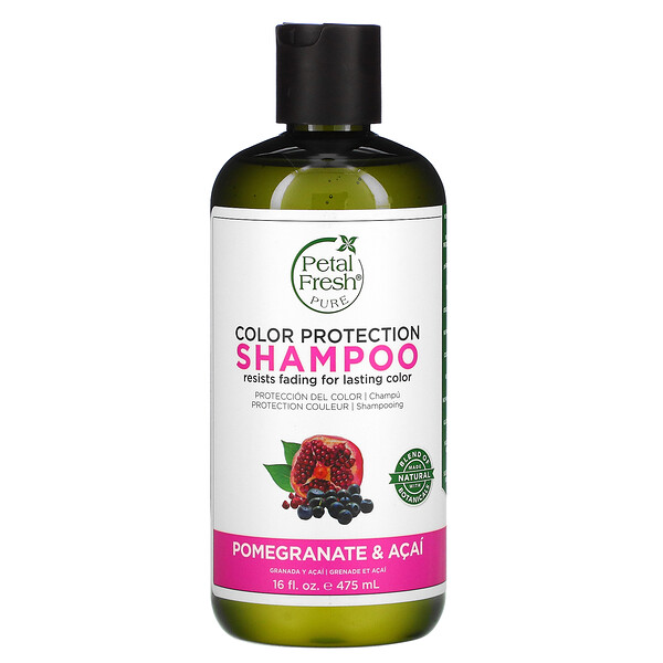 Pure, Color Protection Shampoo, Pomegranate and Acai, 16 fl oz (475 ml)