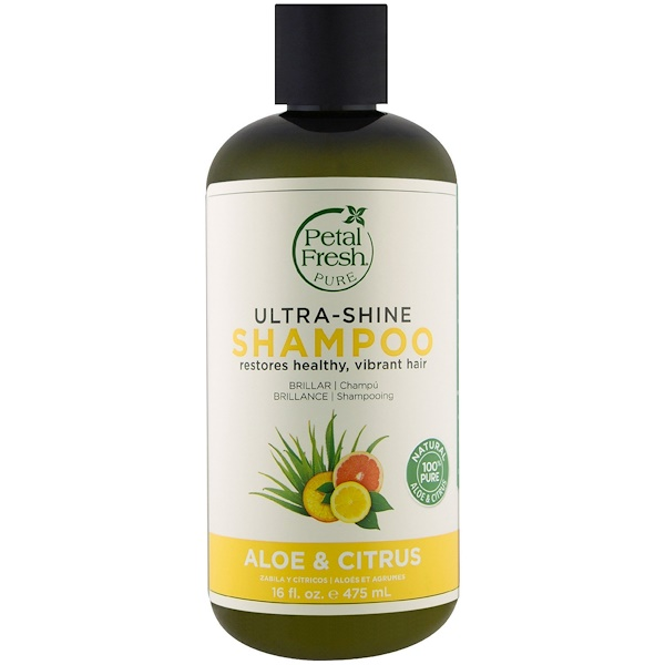 Petal Fresh, Pure, Ultra-Shine Shampoo, Aloe and Citrus, 16 fl oz (475 ml)
