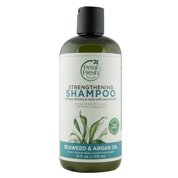 Pure, Strengthening Shampoo, Seaweed & Argan Oil, 16 fl oz (475 ml)