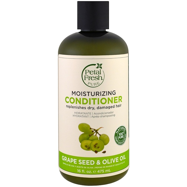 Pure, Moisturizing Conditioner, Grape Seed & Olive Oil, 16 fl oz (475 ml)
