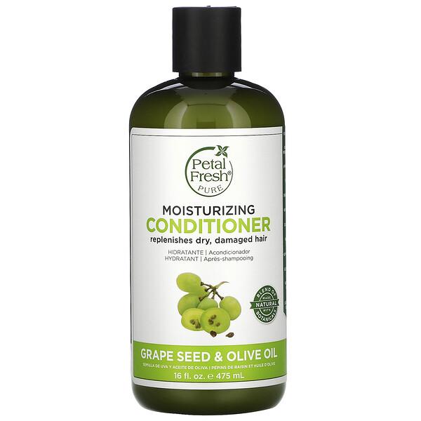 Pure, Moisturizing Conditioner, Grape Seed & Olive Oil, 16 fl oz (475 ml)