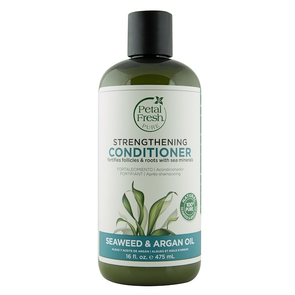 Pure, Strengthening Conditioner, Seaweed & Argan Oil, 16 fl oz (475 ml)