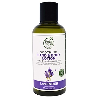Petal Fresh, Pure, Soothing Hand & Body Lotion, Lavender, 3 fl oz (90 ml)
