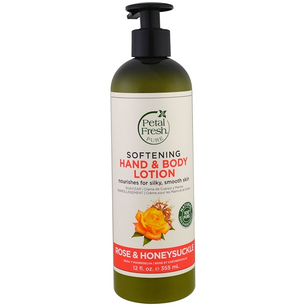Petal Fresh, Pure, Softening Hand & Body Lotion, Rose & Honeysuckle, 12 fl oz (355 ml) (Discontinued Item)