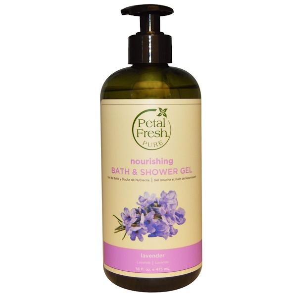 Petal Fresh, Pure, Nourishing Bath & Shower Gel, Lavender, 16 fl oz (475 ml)