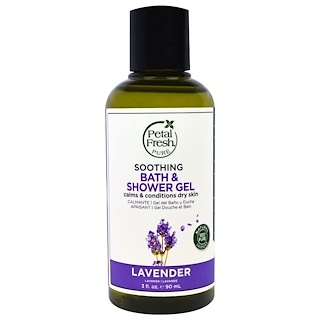 Petal Fresh, Pure, Soothing Bath & Shower Gel, Lavender, 3 fl oz (90 ml)