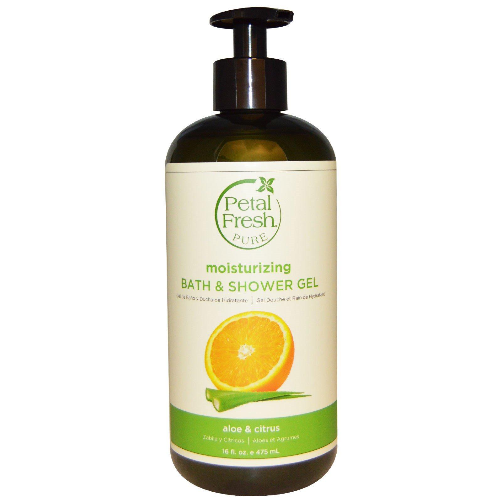 Petal Fresh, Чистый освежающий гель для душа и ванны, алое вера и цитрус, 16 жидк. унц (475 мл)