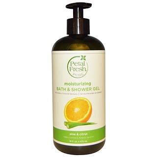 Petal Fresh, Pure, Refreshing Bath & Shower Gel, Aloe & Citrus, 16 fl oz (475 ml)