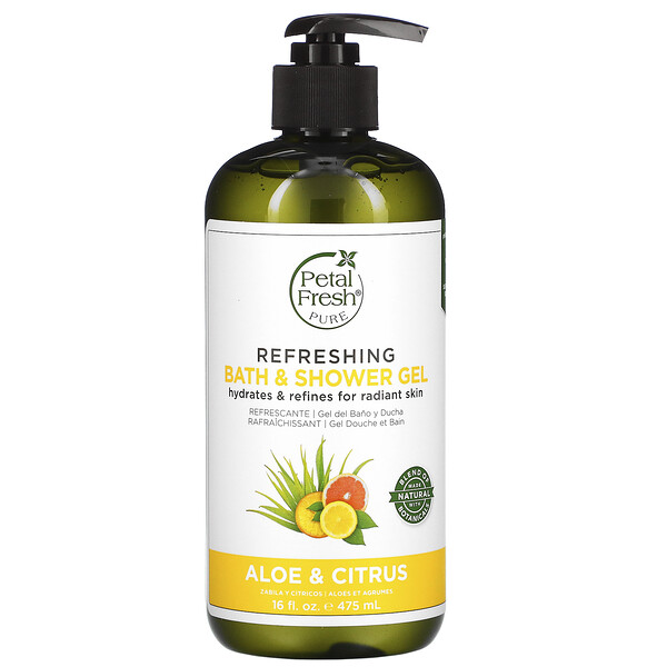 Petal Fresh, Pure, Refreshing Bath & Shower Gel, Aloe & Citrus, 16 fl oz (475 ml)