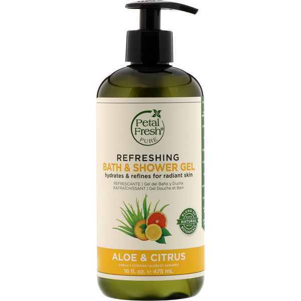 Pure, Refreshing Bath & Shower Gel, Aloe & Citrus, 16 fl oz (475 ml)