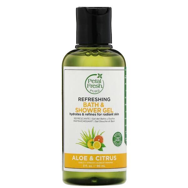 Petal Fresh, Pure, освежающий гель для ванны и душа, алоэ и цитрус, 90мл (3жидк.унции) (Discontinued Item)