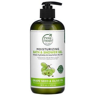 Petal Fresh, Moisturizing Bath & Shower Gel, Grape Seed & Olive Oil, 16 fl oz (475 ml)