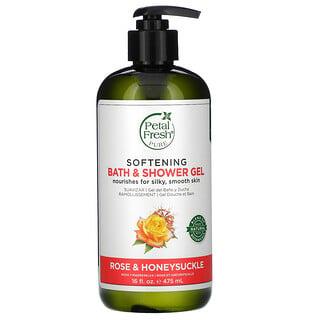 Petal Fresh, Softening Bath & Shower Gel, Rose & Honeysuckle, 16 fl oz (475 ml)
