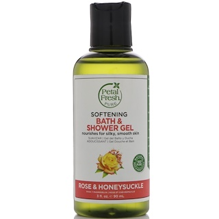 Petal Fresh, Pure, Softening Bath & Shower Gel, Rose & Honeysuckle, 3 fl oz (90 ml)