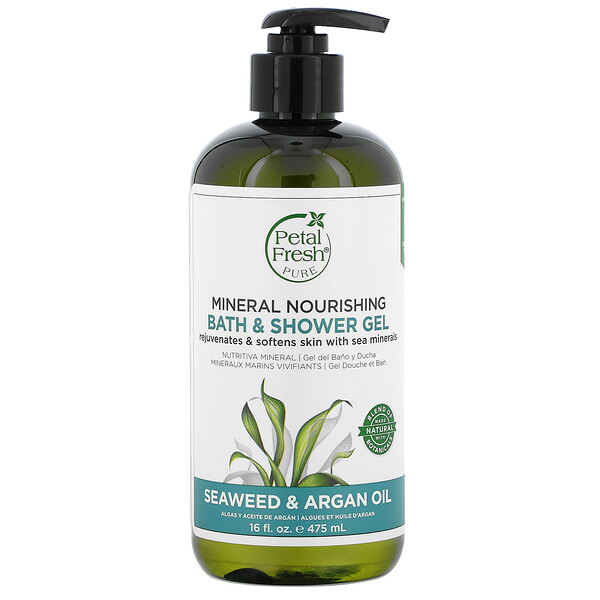 Petal Fresh, Mineral Nourishing Bath & Shower Gel, Seaweed & Argan Oil, 16 fl oz (475 ml)