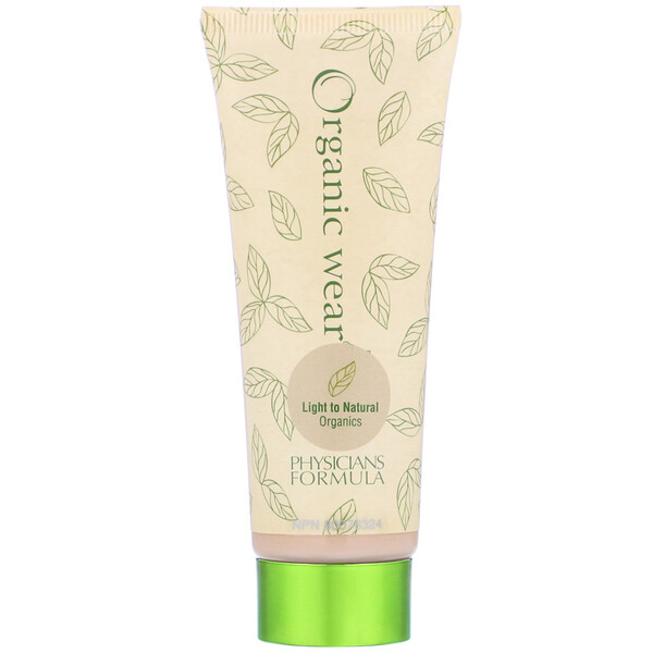 Organic Wear, Tinted Moisturizer, SPF 15, Light to Natural Organics, 1.5 fl oz (44 ml)