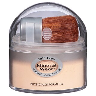 Physicians Formula, Mineral Wear, 루스 파우더, 반투명 미디엄, SPF 16, 0.49 oz (14 g)