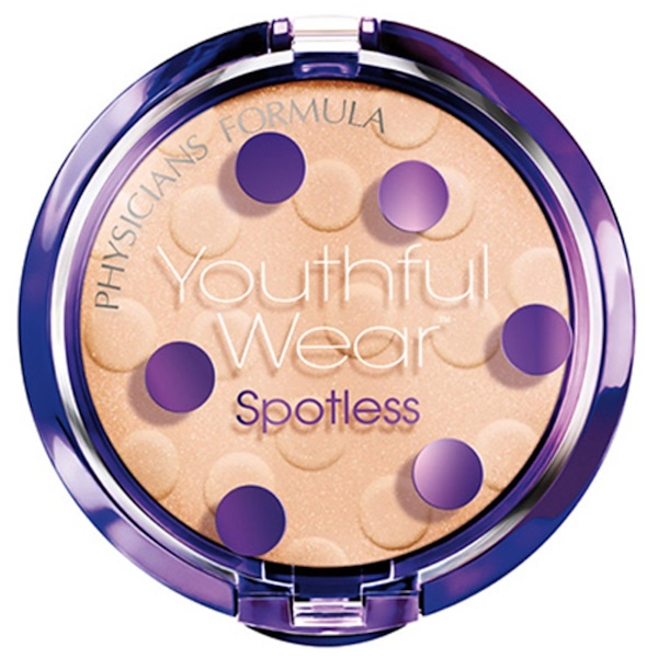Physicians Formula, Youthful Wear, Cosmeceutical Youth-Boosting, Spotless Powder, Translucent, SPF 15, 0.33 oz (9.5 g) (Discontinued Item)