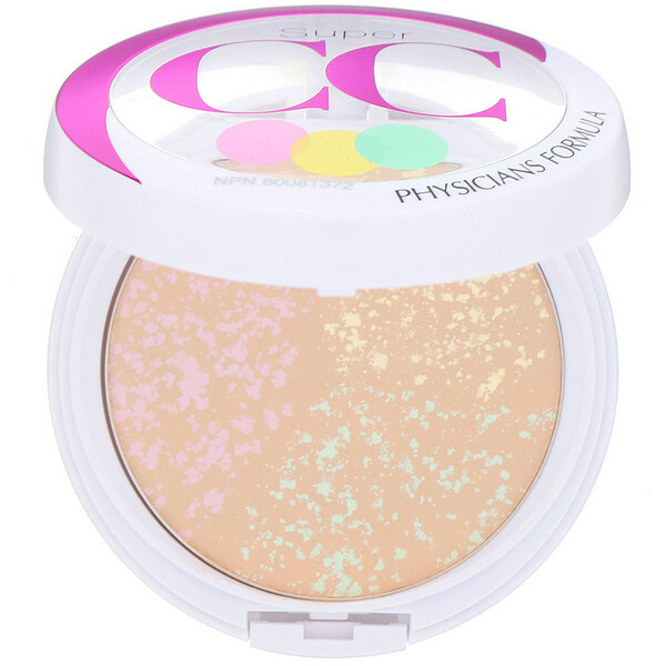 Physicians Formula, Super CC+, Color-Correction + Care, CC+ Powder, SPF 30, Light/Medium, 0.3 oz (8.5 g) (Discontinued Item)