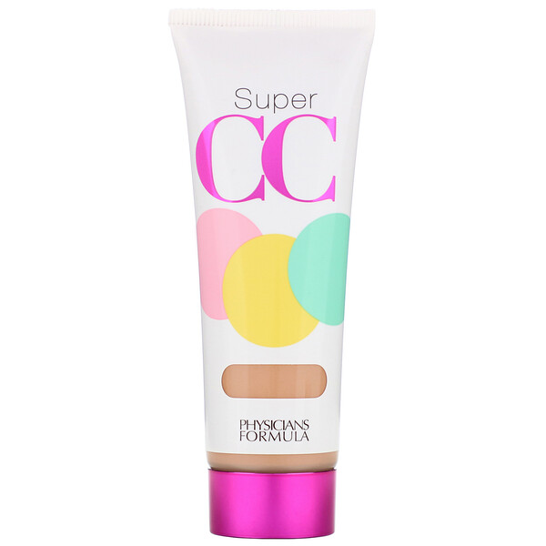 Physicians Formula, Super CC+, Color-Correction + Care, Cream, SPF 30, Light/Medium, 1.2 fl oz (35 ml)