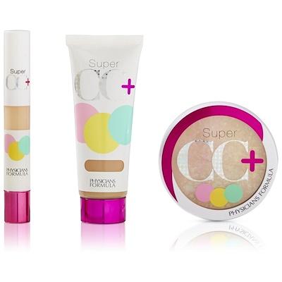 Physicians Formula Complete Correction, Super CC Color-Correction + Care Makeup, SPF 30 Broad Spectrum Sunscreen, Light & Medium Kit
